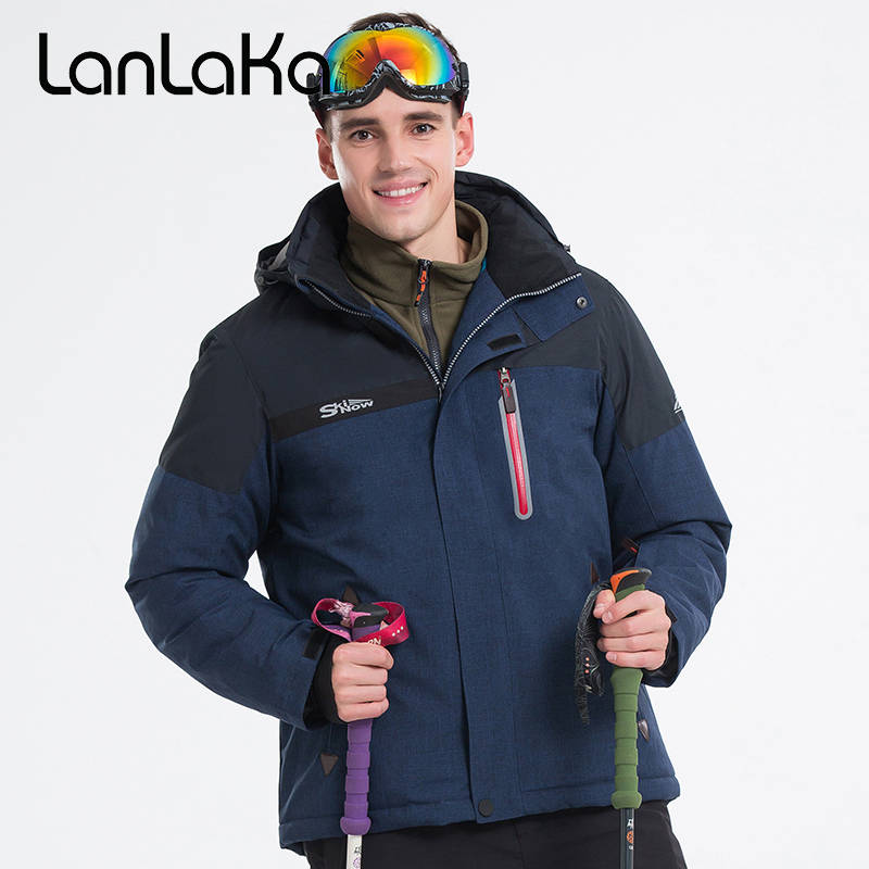 LANLAKA Men Ski Jacket Hiking Jacket Windproof Waterproof Super Warm Clothing Outdoor Sport Wear Male Skiing Snowboard Coat New qibest 23colors set brand makeup matte proof lipstick long lasting effect soft waterproof matte lipsticks lip easy to wear