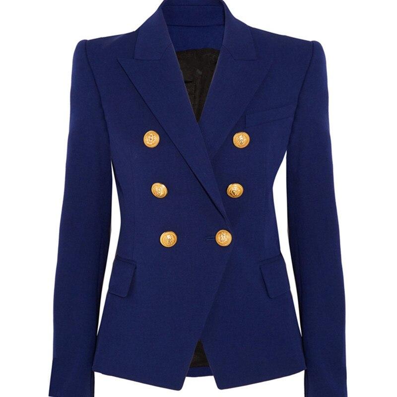 Nouveaux Blazers costumes à double boutonnage blazer femmes OL manteau