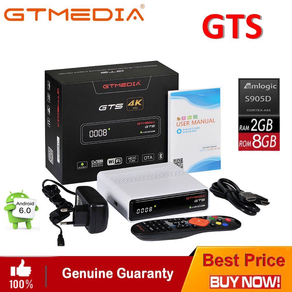 GTmedia GTS DVB-S2 Satellite Receiver Android 6.0 Combo TV BOX 2GB RAM 8GB ROM BT4.0 CCCam IPTV Set Top Box PK Freesat V7 HD V8 berzimer elegant vintage women shoulder bag stylish black green red orange pink shoulder stylish crossbody bags for women