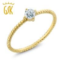 0 15 Ct Round Diamond 10K Yellow Gold Engagement Solitaire Ring