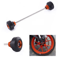 Motocycle Front & Rear Axle Fork Crash Wheel Slider Cap Protector Falling Protection For 2013-2018 KTM Duke 690 2014 2015 2016 недорого