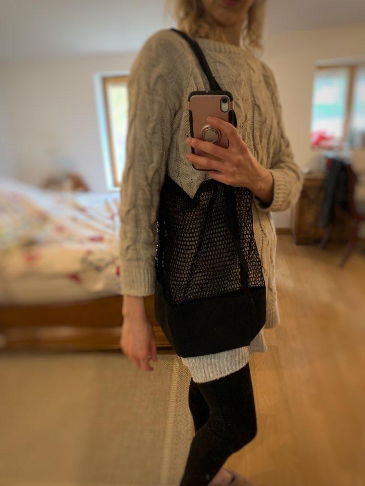 Women bags designe New Brand Net Bag Supermarket Reusable Shopping Bag  Pure color Mesh Net Bag sac a main femme photo review