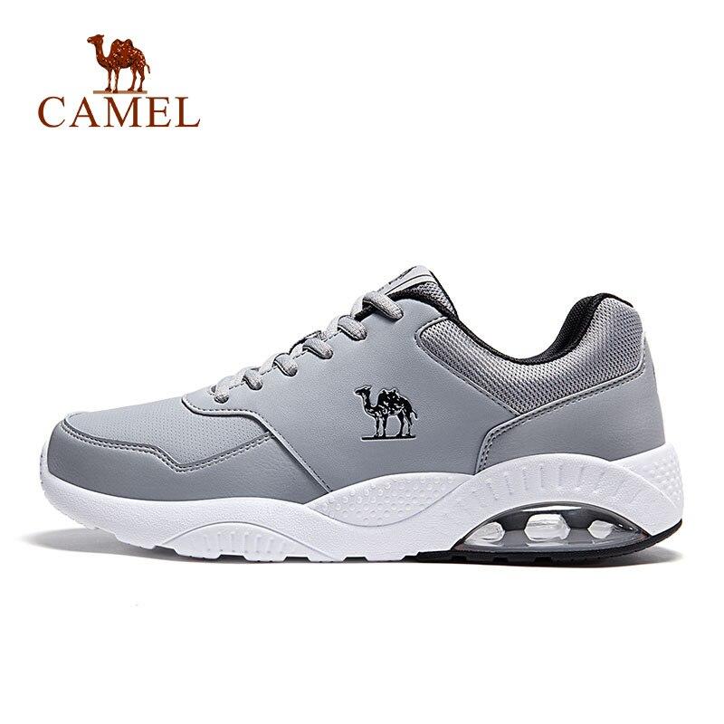 גמל חדש עור נעלי ריצה מזדמן נוח חיצוני ריצה הליכה סניקרס לנשימה אוויר כרית נעלי ספורט לגברים