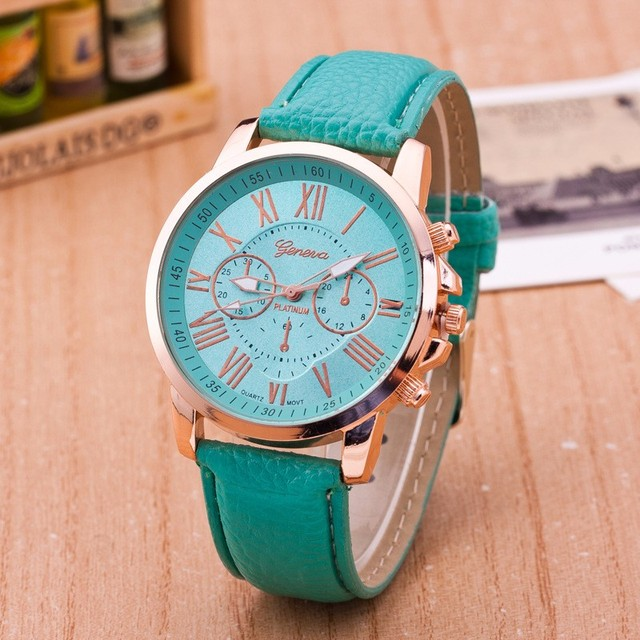 Luxury Brand Leather Quartz Watch Women Men Ladies Fashion Wrist Watch Wristwatches Clock relogio feminino masculino 8A01 5