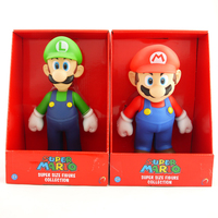Бесплатная доставка Super Mario Bros Марио Луиджи ПВХ фигурку Коллекция игрушки куклы 9