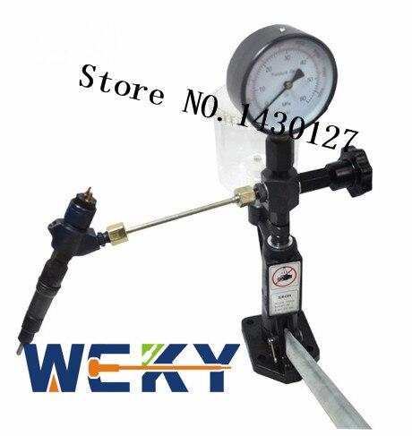 OUTIL DE RÉPARATION! Calibrateur de testeur de buse à rampe commune avec barre 0-400/0-6000 PSI outil à rampe commune buse d'injecteur de carburant outil CR