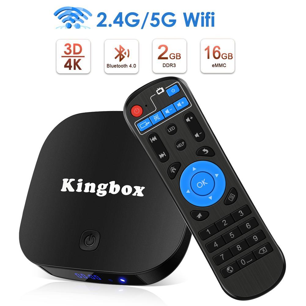 Leelbox Android 8.1 Smart TV BOX RK3299 2G DDR3 16G EMMC ROM décodeur 4 K 3D H.265 Wifi lecteur multimédia TV récepteur play store