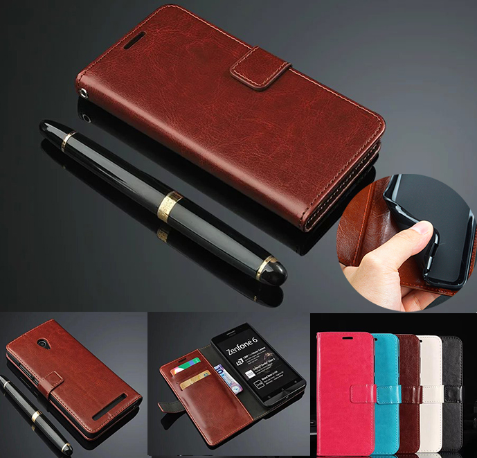 Luxury Retro Wallet Stand Flip Leather Case For <font><b>ASUS</b></font> Zenfone 6 A600CG <font><b>T00G</b></font> Phone Case For <font><b>ASUS</b></font> Zenfone 6 ZS630KL 2019 Back Case image