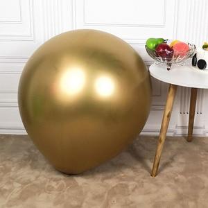 Image 4 - 1PC 36 インチローズレッド巨大なラウンドメタリック風船結婚式装飾ジャイアントラテックス風船誕生日パーティー子供のおもちゃビッグゴールドグロボス