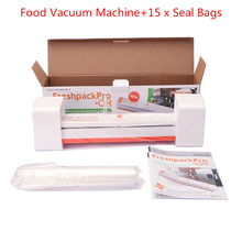 Original 220V Household Food Vacuum Sealer Packaging Machine Machine Automatic Film Sealer Vacuum Packer with 15Pcs