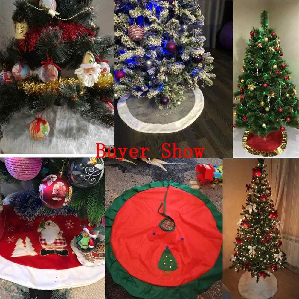 1pc Bianco di Peluche di Natale Albero Di Natale Tappeto di Pelliccia Buon Decorazioni Di Natale per la Casa Natal Albero Gonne Decorazione di Nuovo Anno navidad