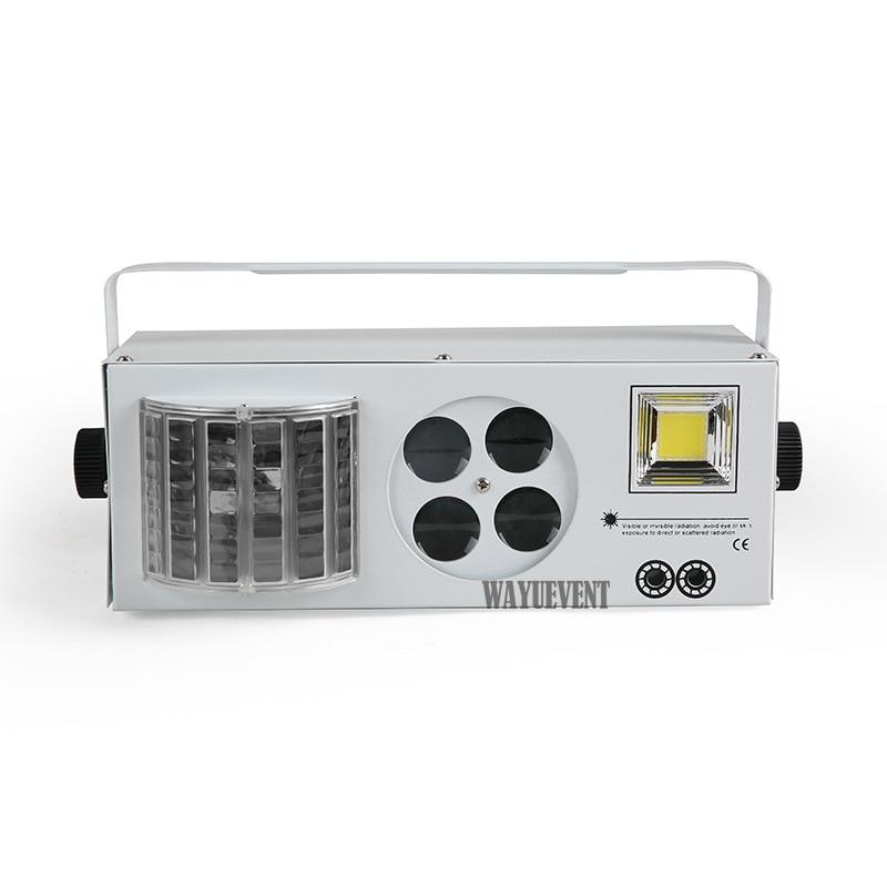 2017 New LED 4 in 1 KTV Laser flash effect light Gobo sound Strobe butterfly derby DMX51 ...