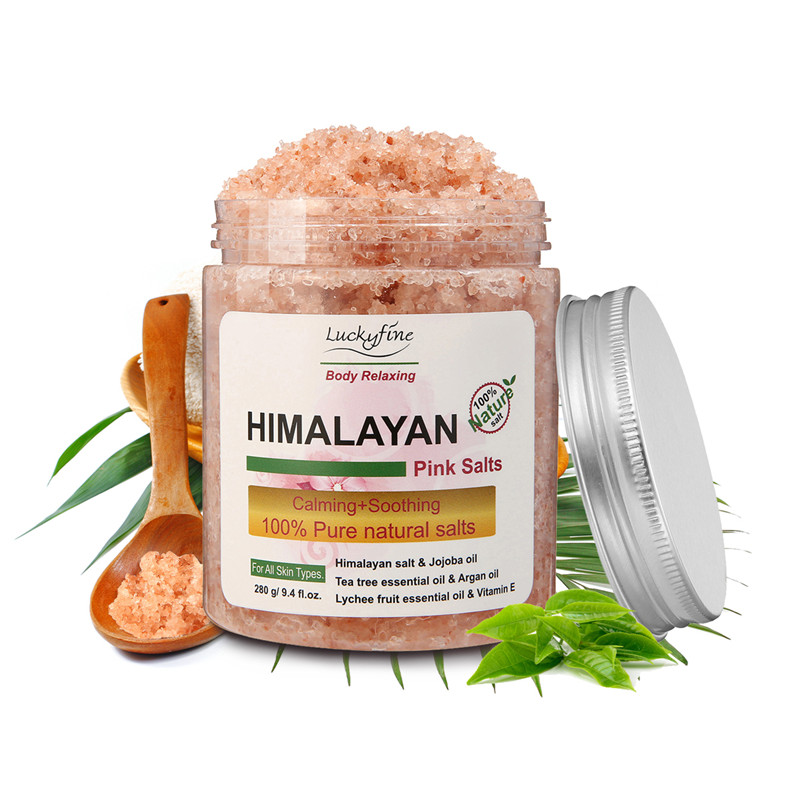 280g Himalayan Pink Salt SPA Bath Salt Spa Bath Salt Exfoliation Dead font b Skin b