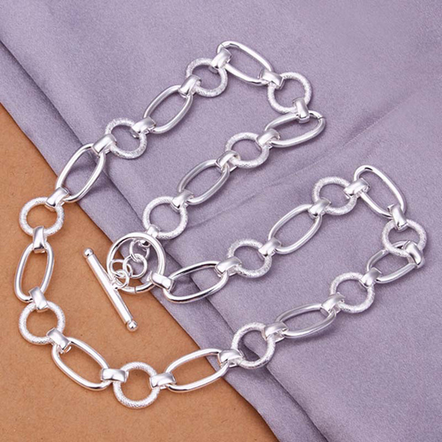 wholesale silver toggle necklaces 925 sterling silver jewerly hot sale big  link chain men necklaces 055142ddad18