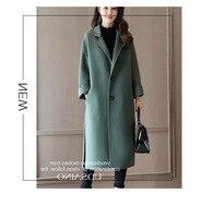 2017 New Arrive Women Woolen Long Jacket ZY966