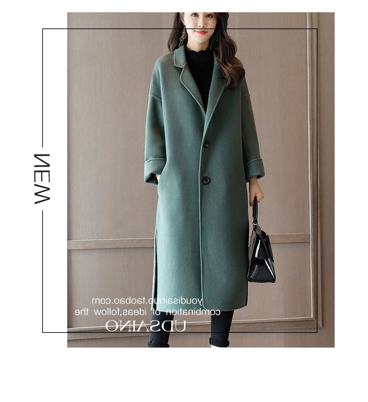 2017 new arrive women woolen long jacket ZY966