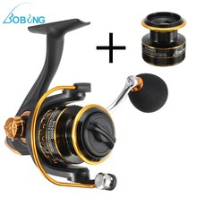 Bobing 10+1BB 5.2:1 Gapless Spinning Fishing Reel Wheel Metal Front Drag 1000-4000 CNC Rocker Carp Casting Gear+Spare Spool