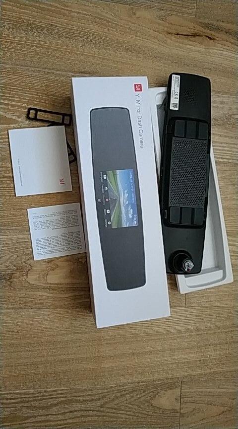 YI Mirror Dash Cam Dual Dashboard Camera Recorder Touch Screen Front Rear View HD Camera G Sensor Night Vision Russian Stock