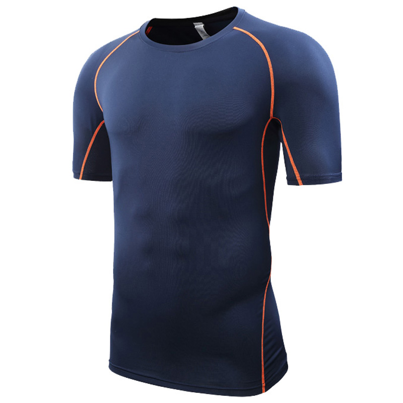 Sportbekleidung Lauf Jersey Männer Quick Dry Basketball Fußball Training T Hemd Männer Compression Fitness Workout Gym Shirt Sommer Sportkleidungen Männer Sport & Unterhaltung