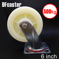 500kg Heavy Load 6 Inch Casters 360 Degree Caster Carrying Wheel Universal Castor Double Bearing Nylon