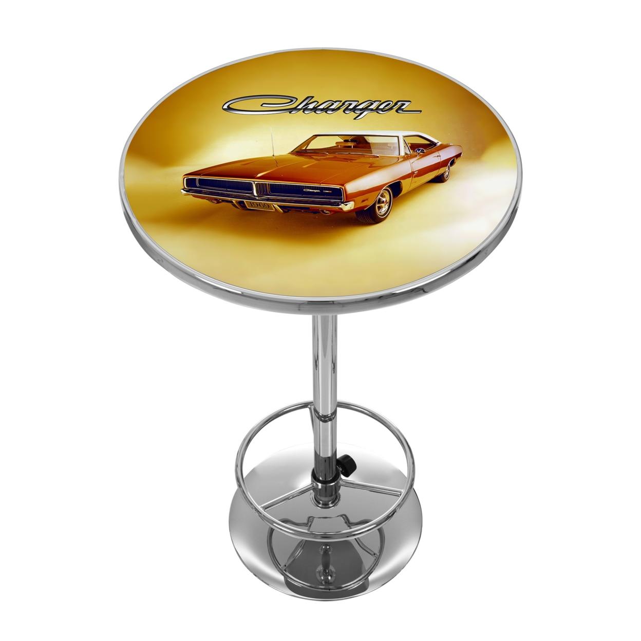 Dodge Chrome 42 Inch Pub Table - 69 Charger siku полицейская машина dodge charger