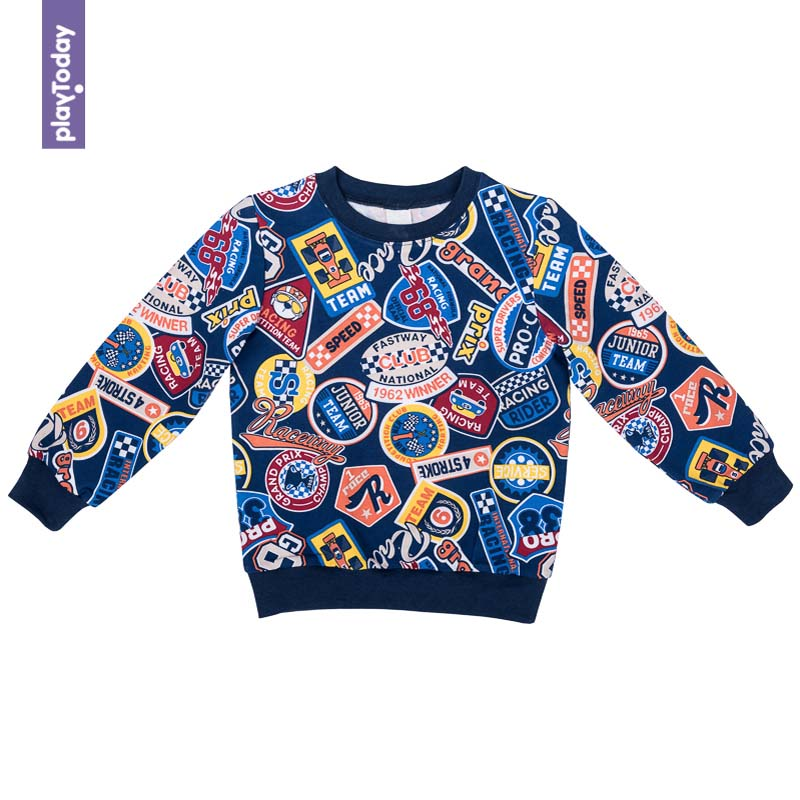 Hoodies and Sweatshirts PLAYTODAY for boys 371066 Children clothes kids clothes black lantern sleeves sweatshirts
