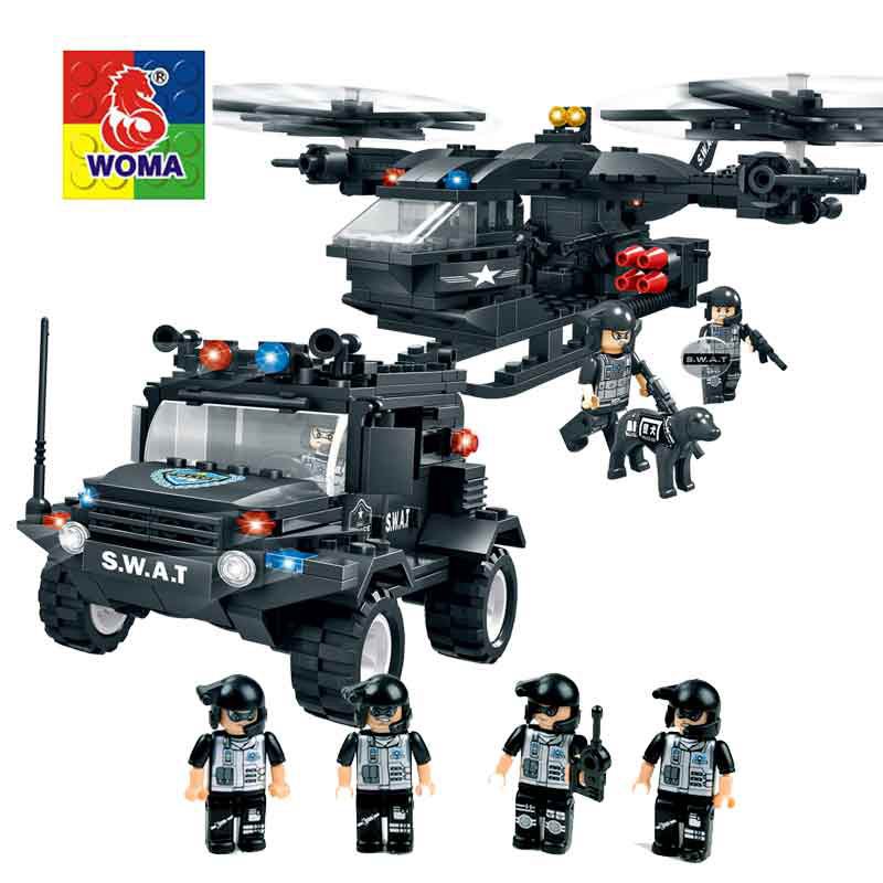 Military Series Police Kids Building Blocks City Weapon Ship Aircraft Car Dolls Boys Toys Compatible with Legoe kaygoo building blocks aircraft airplane ship bus tank police city military carrier 8 in 1 model kids toys best kids xmas gifts