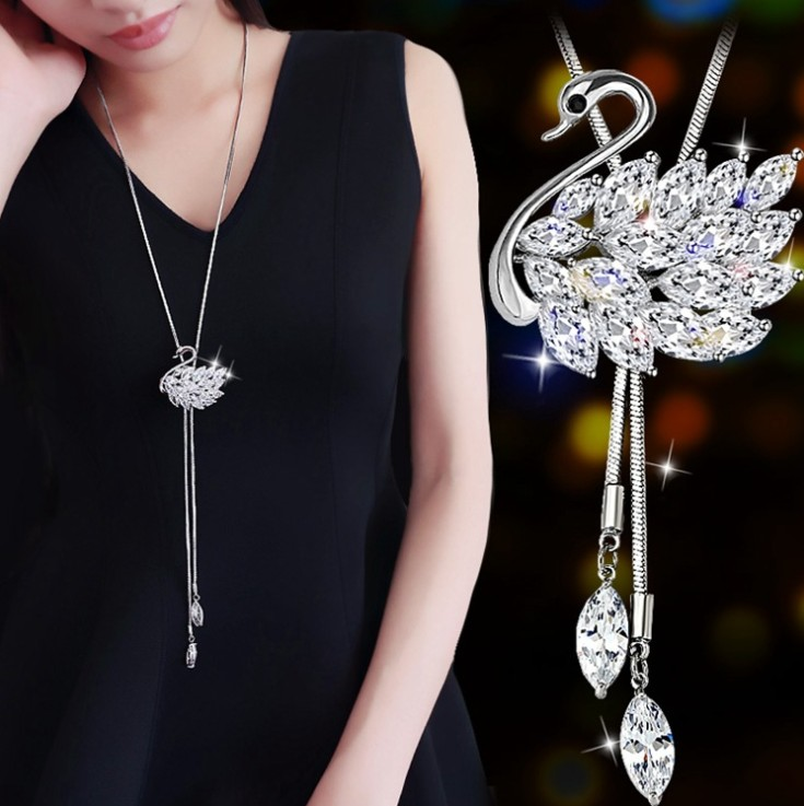 Billede af Best Quality Hot necklace female fashion jewelry crystal from Swarovski Fashion Wedding Jewelry chain Gift Woman