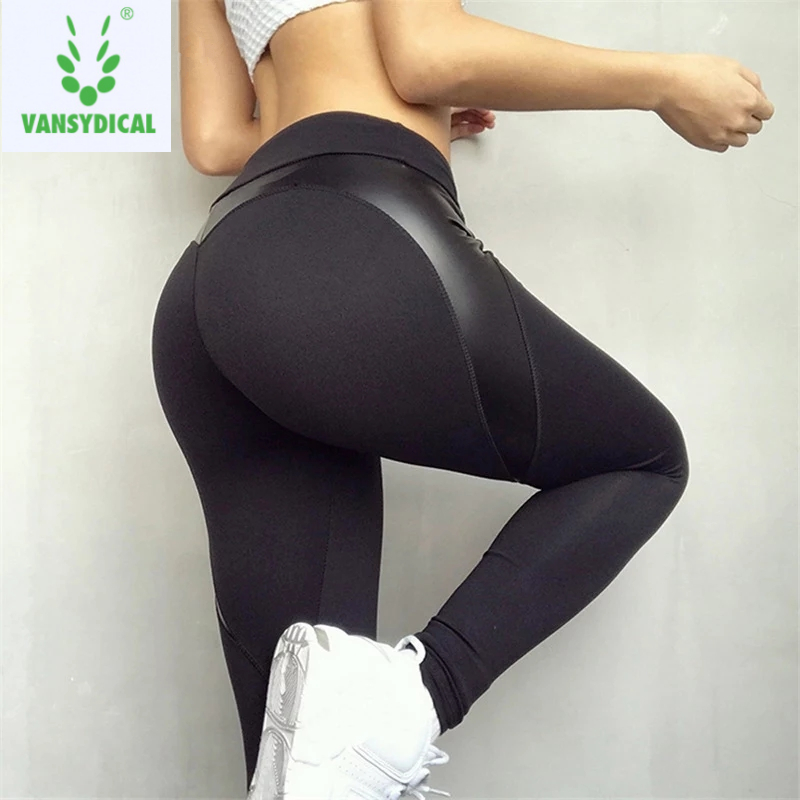 22e0ad0187d9db Vansydical Gym Yoga Pants Women's Compression Running Tights Black Heart  Shape Workout Jogging Sports Leggings