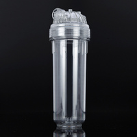 1pcs Transparent 10 Inch High Pressure Filter Bottle Water Filter Housing 1 4 Inch Connection Interface