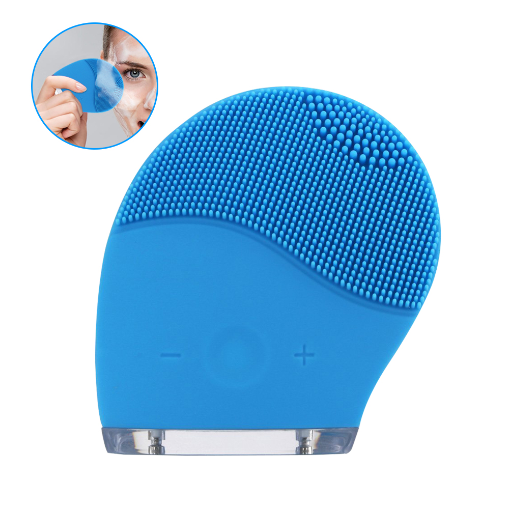 Multifunctional Electric Face Cleanser Vibrate Pore Clean Silicone Cleansing Brush Facial Skin Care Massager Washing 5 in 1 electric facial cleanser face skin care set cleansing brush massager pore cleaner deep clean remove black spots