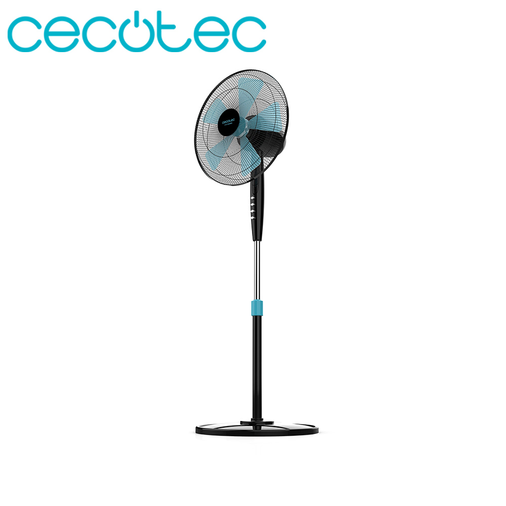 Cecotec ForceSilence 510 AirFlow5 ThermoSafe 40W Fan Security System 3 Speed Function Light Easy Transport Storage Silence