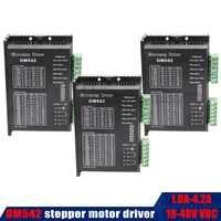 3PCS DM542 Stepper Motor Controller Leadshine 2-phase Digital Stepper Motor Driver 18-48 VDC Max. 4.2A for 57 Series Motor