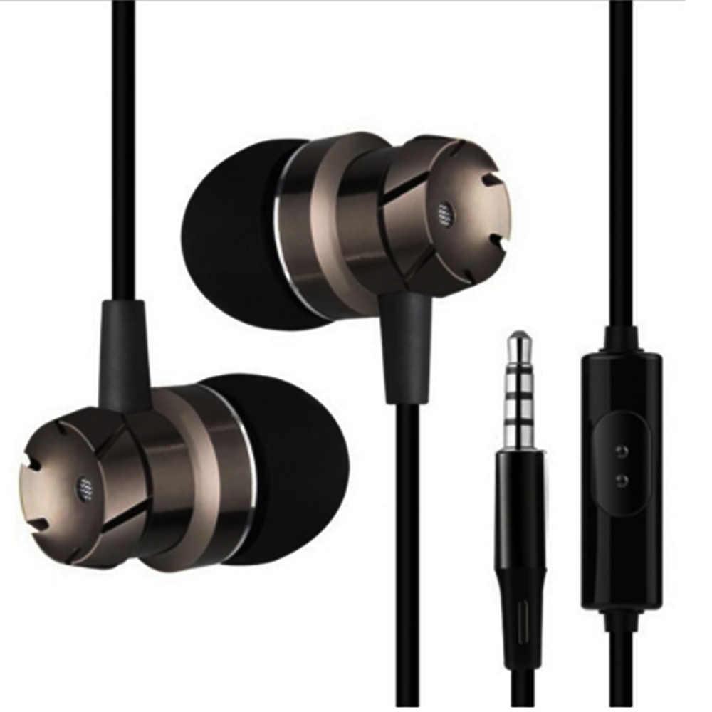 3.5mm przewodowe w ucho słuchawki douszne słuchawki słuchawki bezobsługowy zestaw słuchawkowy słuchawki douszne z mikrofonem dla Xiaomi Xiaomi telefonu Iphone Xiaomi MP3 odtwarzacz na laptopa