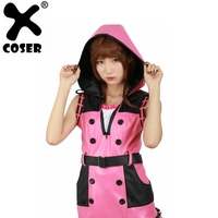 XCOSER Kingdom Hearts III Game Cosplay Kelly Pink One piece Dress Cosplay Costume Brand Sale Flavors Of Youth Anime Costume