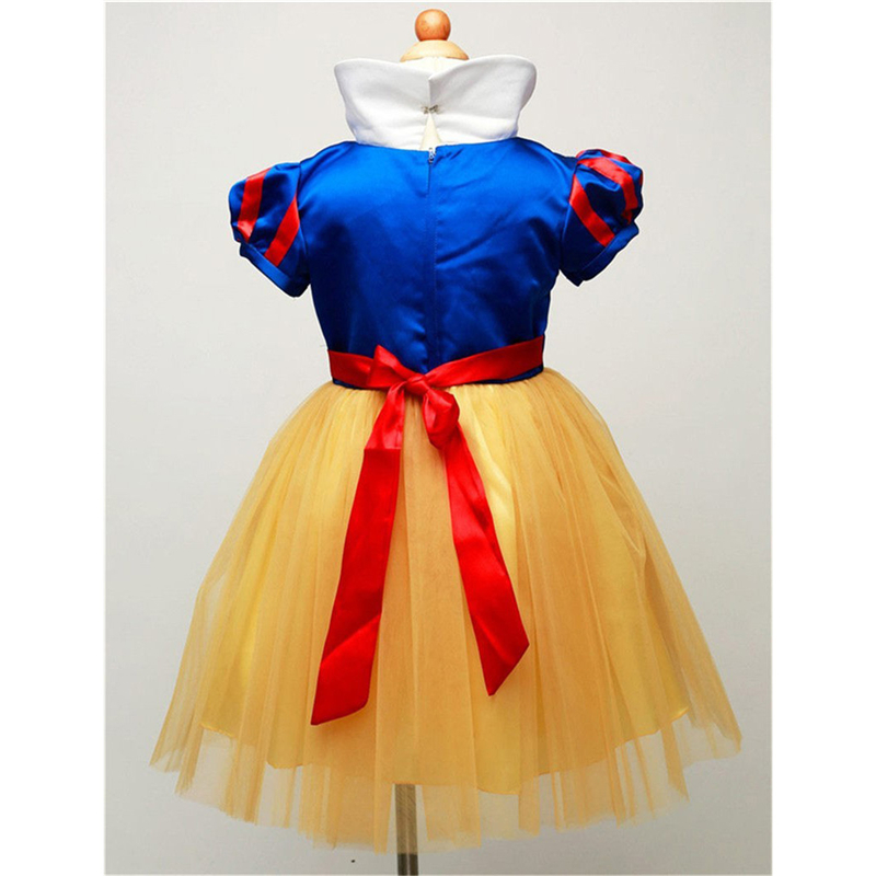 f480e7385fc1 New Hot Sale Snow White Princess Dress with Red Cape and Bow Kids Girl  Dresses Party Cosplay Children Clothing Sets Costume-in Dresses from Mother  & Kids on ...
