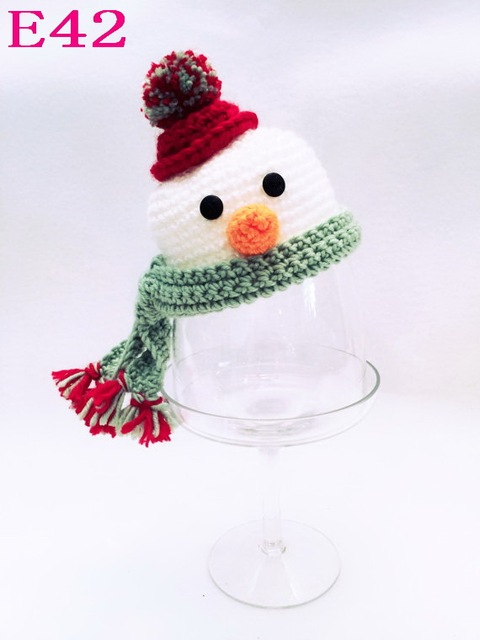 Patrón de muñeco de nieve Hecho A Mano de Punto Beanie Baby Sombrero ...