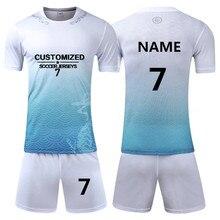 d408f8d1cd9 Men Survetement Football Jerseys Soccer Sets Team Uniforms Sport Kit  Training Suits Shirts Shorts Custom Print