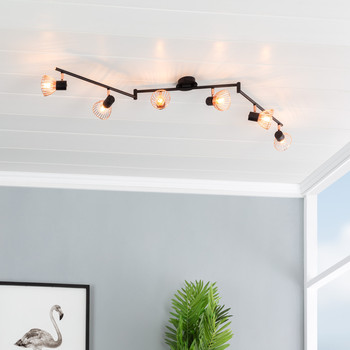 Потолочный светильник Steerable Saban 1-4 лампы прожекторы черный