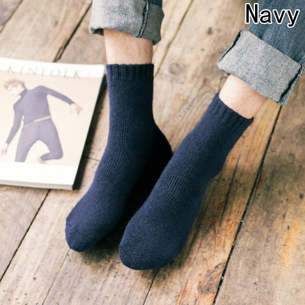 Rabbit Wool Quality Men Spring Autumn Winter Warm Socks Deodorant Breathable Soft Business Casual Solid Colors Prints Sock