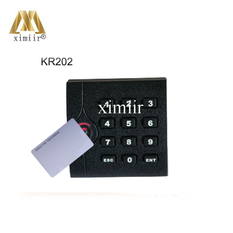 High quality ZK IP65 waterpoof for access control system black color KR202 keypad 2 color LED indicators RFID card reader biometric face and fingerprint access controller tcp ip zk multibio700 facial time attendance and door security control system