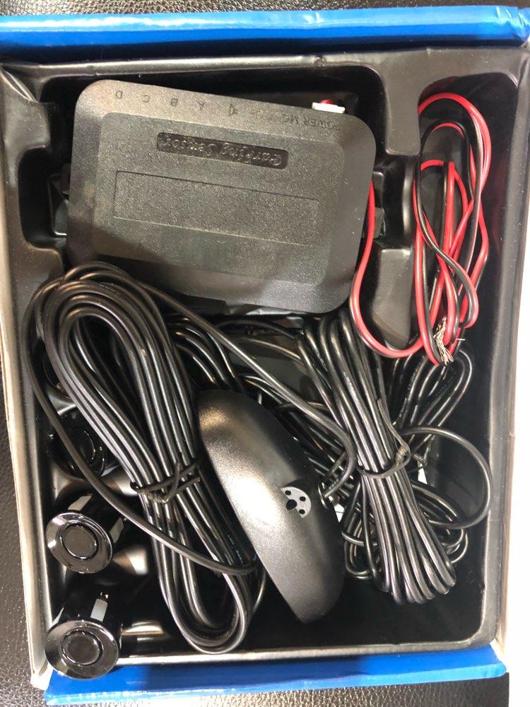 Один комплект светодио дный парковка Сенсор авто детектор парктроник Дисплей Обратный резервного Радар Monitor Системы с 4 Сенсор s