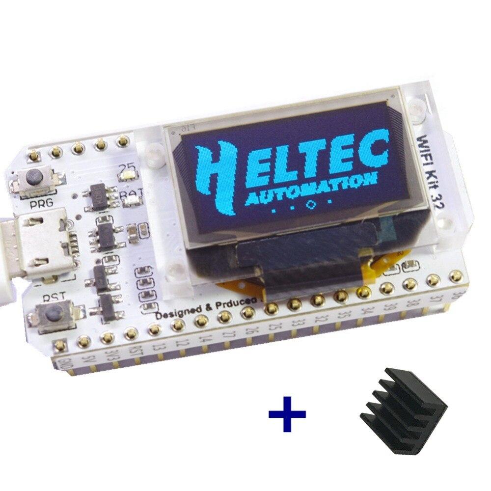 Макетная плата Wi-Fi ESP32, 0,96 дюйма, синий OLED дисплей, Bluetooth, Интернет вещей для Arduino с радиатором