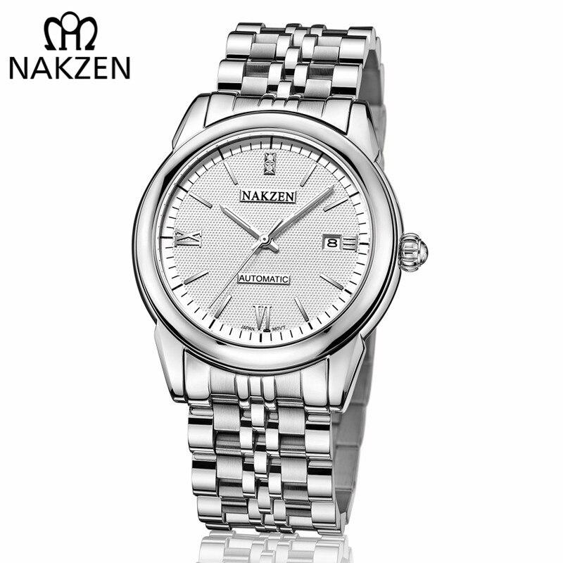 NAKZEN Men Automatic Mechanical Watches Miyota 8215 Movement Military Waterproof Male Wrist Watch Clocks Relogio Masculino