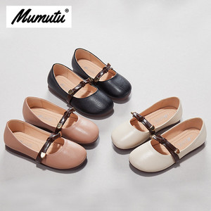 Odorless soft standard size children like girls breathable anti-wear casual light buckle Girls summer flat shoes MM1925