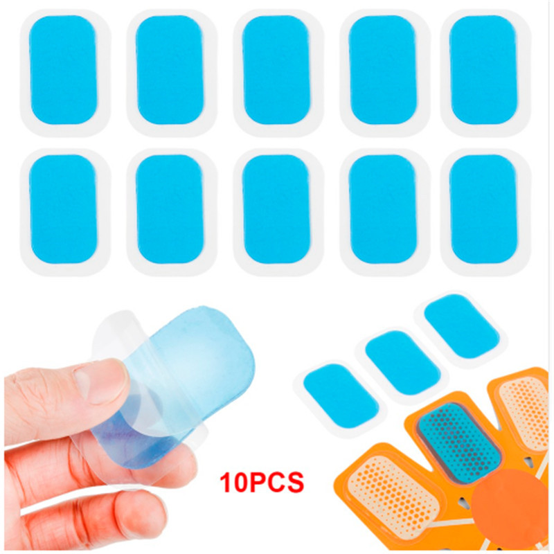 10Pcs/Lot Gel Pads Stickers Gel Sheet Replaceable Hydrogel Gel Replacement For EMS Trainer Abdominal Muscle Stimulator Exerciser