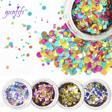 12 color round nail art sequins, laser gradient DIY jewelry