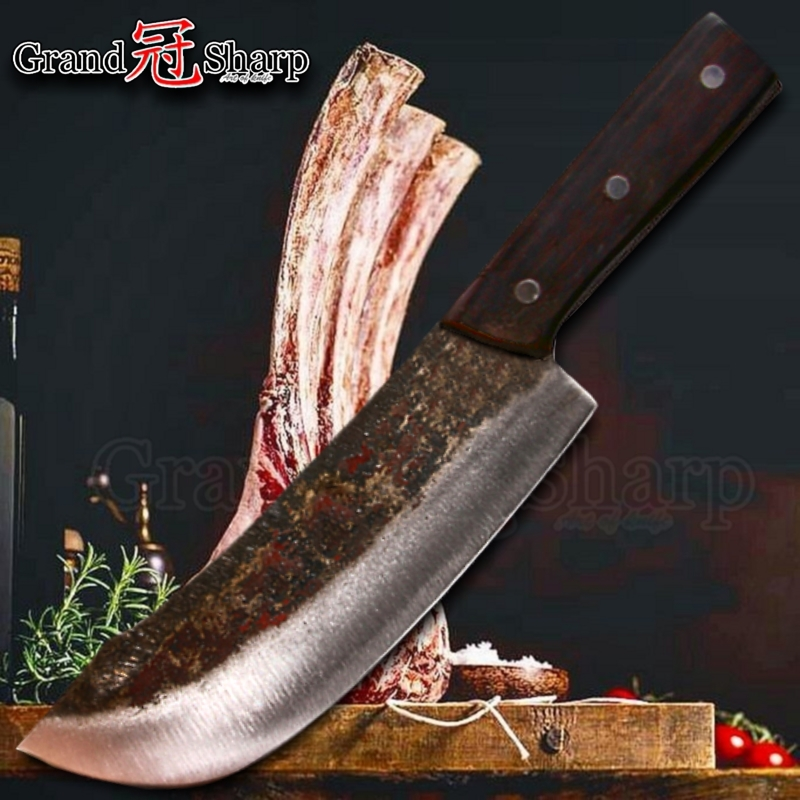 Chef Cleaver Knife Chopper Slicing Cooking Tools Handmade Kitchen Knives Traditional Chinese Style Pro Sharp Slaughter Knife NEW