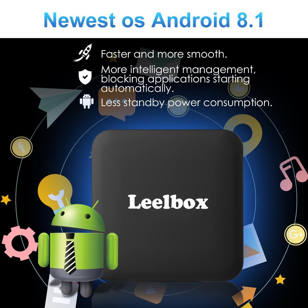 Image 2 - ТВ бокс Android 8,1 Leelbox Smart tv Box с голосовым пультом дистанционного управления, четырехъядерный процессор Amlogic S905W, 2 Гб-in ТВ-приставки и медиаплееры from Бытовая электроника on AliExpress - 11.11_Double 11_Singles' Day