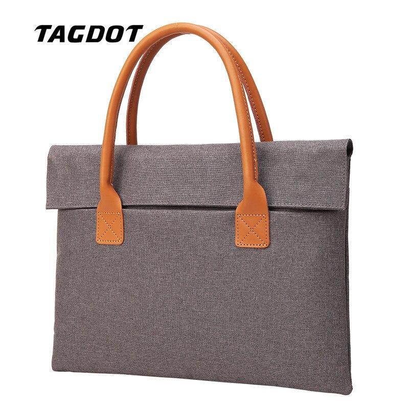 Tagdot men portable bag 15 15.6 13.3 13 12 11 inch laptop bag Women Handbag Shoulder Notebook bag 2018 Luxury Brand Fashion